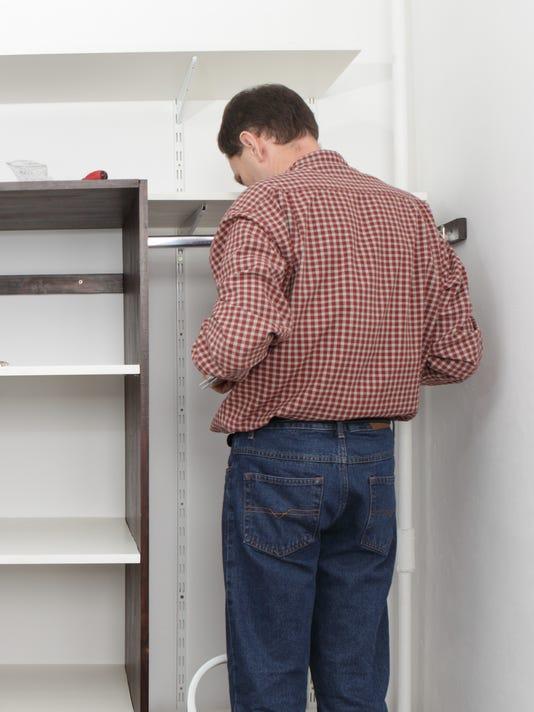 Assembling closet