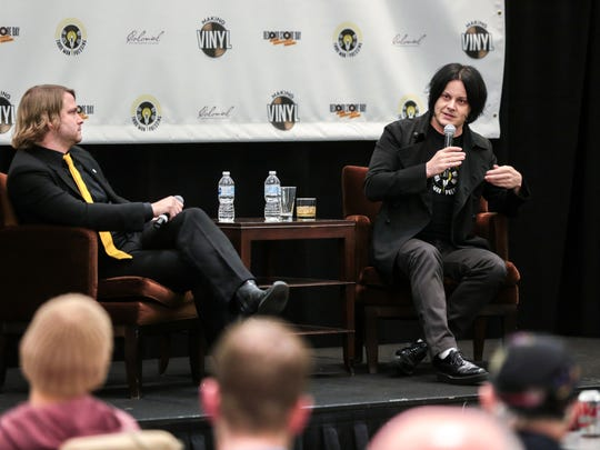 Jack White speaks about Third Man Pressing and his dedication to vinyl during the Making Vinyl conference Westin Book Cadillac Hotel in downtown Detroit on Monday November 6, 2017.