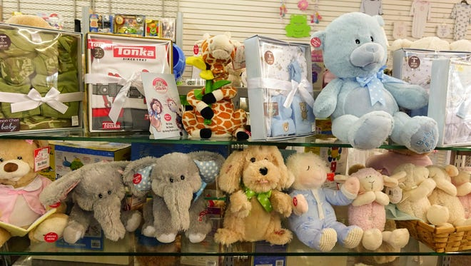 Toys sold at Village Boutique on Creswell Lane.