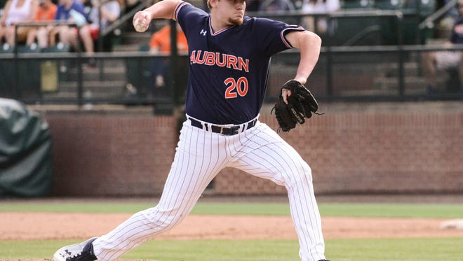 Cody Greenhill (20)  Baseball vs Bryant on Saturday, Feb. 24, 2018 in Auburn, Ala.