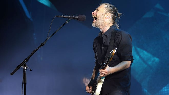 Thom Yorke of Radiohead performs live on stage at Sydney Entertainment Centre on November 12, 2012.