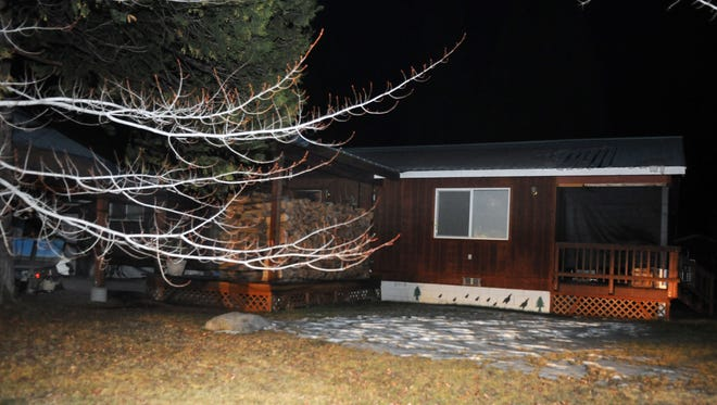 The exterior of alleged shooter Alan Frazier's house in Lake Almanor, Calif.