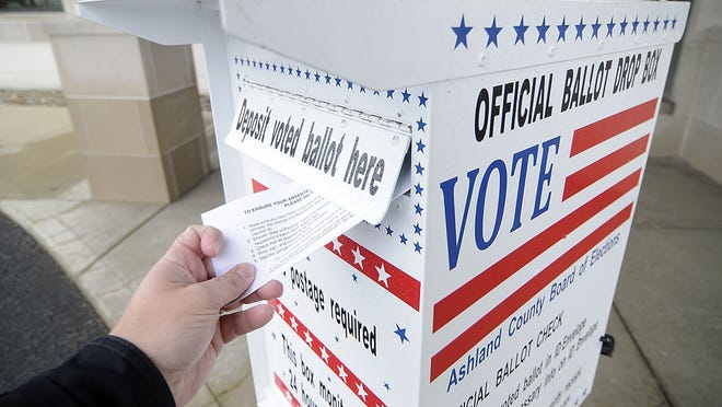 Each county boards of elections installed a dropbox outside its office during the 2020 primary election to assist voters who didn't want to vote in-person due to the coronavirus pandemic.