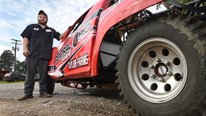 Nick Anderson of Zanesville has been driving his Central Ohio Tire truck in rough truck competitions around the country, and will be competing at the Muskingum County Fair on Wednesday.