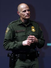 Acting Deputy Commissioner of U.S. Border Patrol Ronald D. Vitiello takes questions from students at the College of the Ozark' Jones Auditorium on Monday, Feb. 19, 2018.