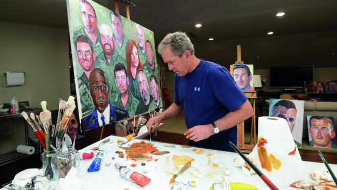 Former President George W. Bush has painted a series of veterans' portraits, which are currently on display at the George W. Bush Presidential Center in Dallas.