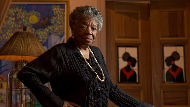 Author and poet Maya Angelou, photographed at her home in 2008.