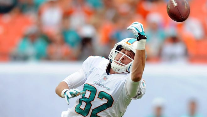 Dolphins WR Brian Hartline injured his knee in Week 17 just after surpassing 1,000 receiving yards for the season.