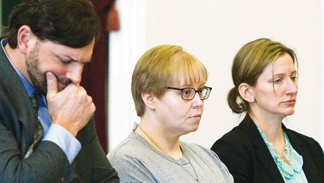 Center, Patricia Prue with her attorneys Brian Marsicovetere and Jordana Levine. Prue was sentenced to life in prison without the possibility of parole on Friday after deciding to plead guilty the day before to charges of aggravated attempted murder, kidnapping and conspiracy in the killing of Melissa Jenkins.