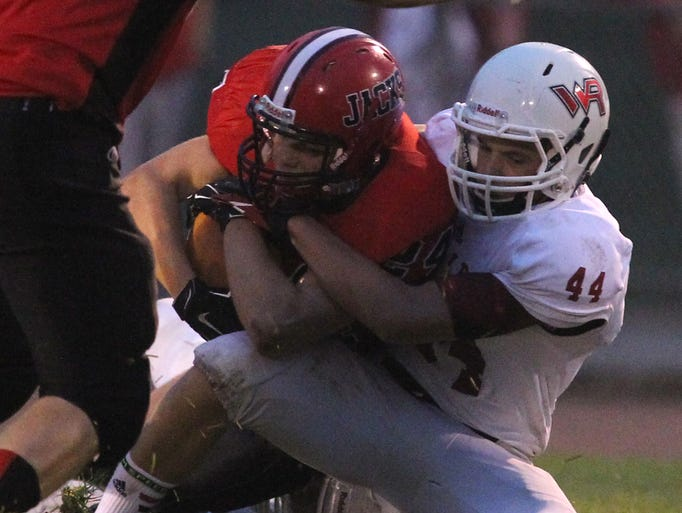 Rapids lost to Wausau East at Thom Field in Wausau, 19-13, Thursday, August 21, 2014.