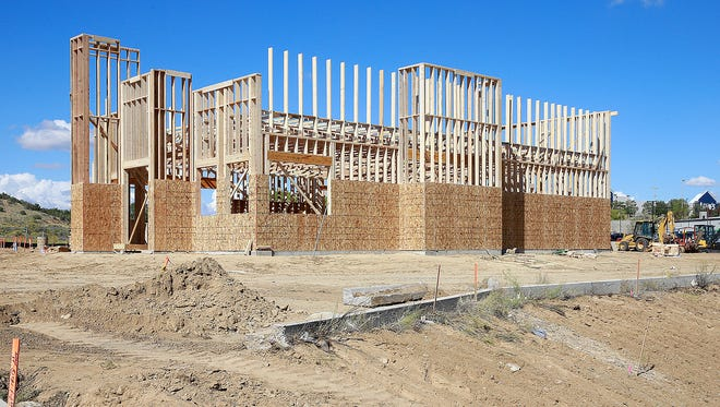 Construction on a Blake's Lotaburger location continues on Friday at 5210 E. Main St. in Farmington.