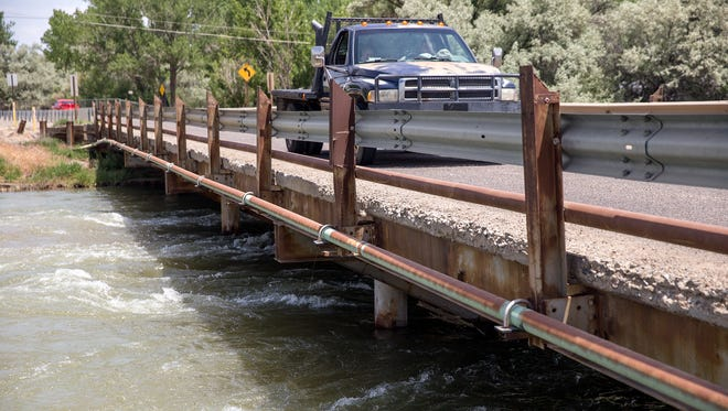 County officials say the County Road 5500 bridge crossing the San Juan River is deteriorating and will need to be replaced soon.