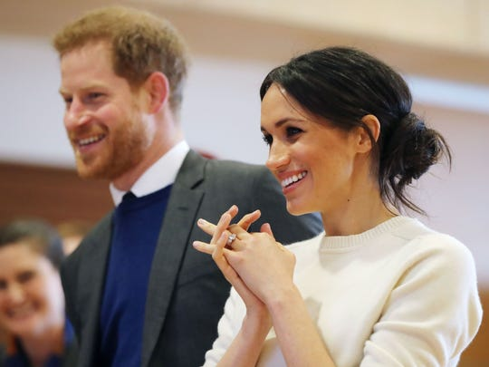 Prince Harry and Meghan Markle were all smiles during