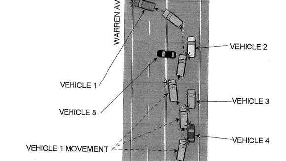 An officer's interpretation of how the crash unfolded.