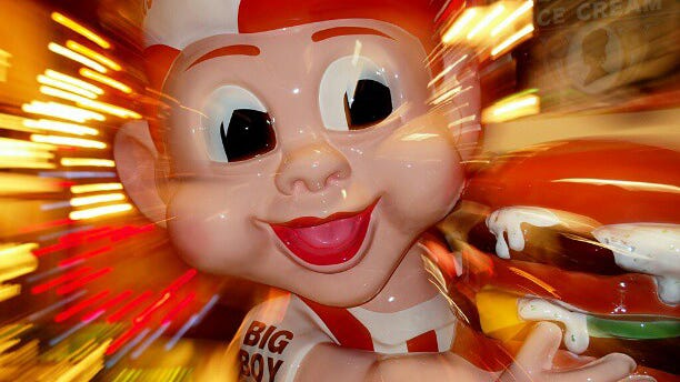 A Frisch's Big Boy statue at the American Sign Museum in Camp Washington.