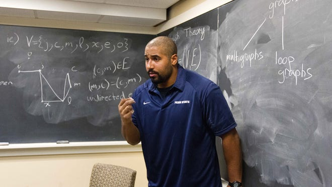 John Urschel, now a lineman for the Baltimore Ravens, teaches math at Penn State University.