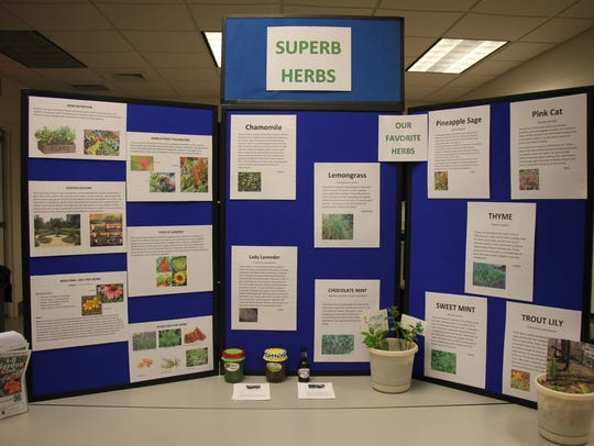 """4-H Garden Club's """"Superb Herbs"""" display."""