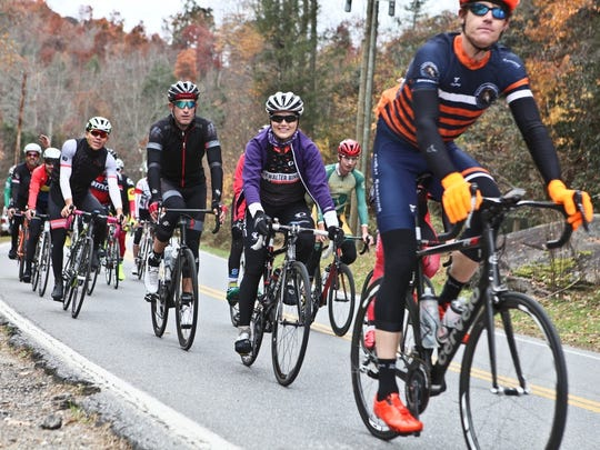Hundreds of riders, including Tour de France pros like Brent Bookwalter and George Hincapie, will ride in the Bookwalter Binge Gran Fondo Oct. 28.