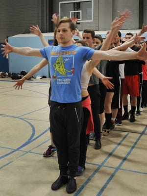 """Rehearsal for Axelrod Performing Arts Center's """"A Chorus Line."""""""
