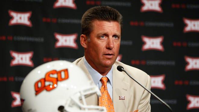 Oklahoma State head coach Mike Gundy.
