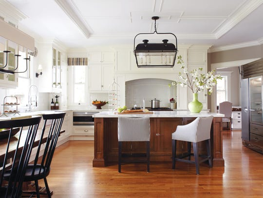 Decorative ceilings bring a unique aspect to the kitchen.