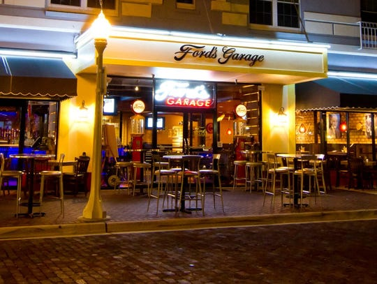 Ford's Garage Restaurant in downtown Fort Myers, Florida