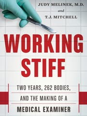 "The book cover to ""Working Stiff"" by Dr. Judy Melinek and T.J. Mitchell."