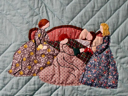 Part of a quilt by Barb Larson and a team of quilters