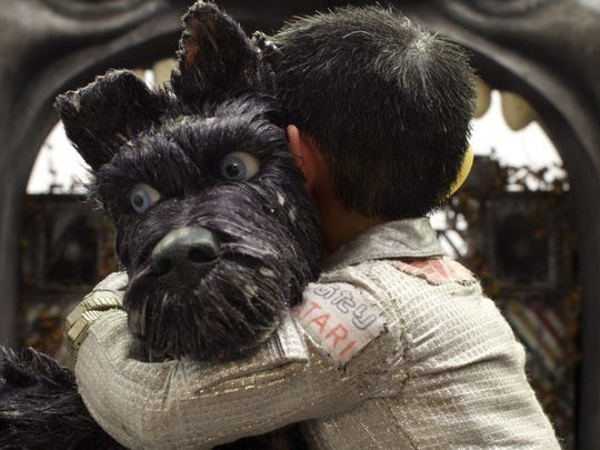 "Chief, voiced by Bryan Cranston, appears in a scene from ""Isle of Dogs."""