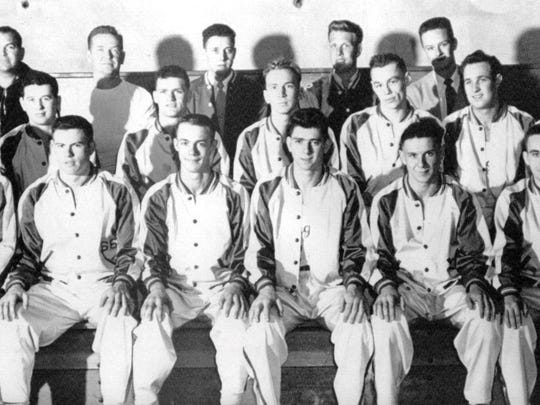 The 1949 Olympic College Rangers, coached by Phil Pesco, were 32-2, placing fourth at the National Junior College Athletic Association Tournament in Hutchinson, Kan.