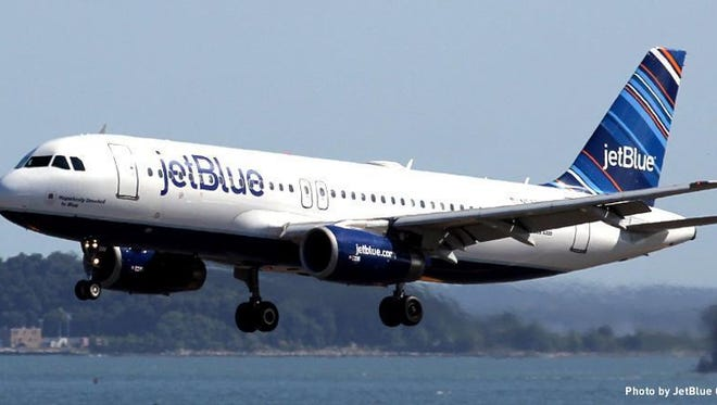 For more than two years, Tallahassee has courted bargain-priced air carrier JetBlue. Courtesy of Jetblue.com Tallahassee International Airport will use a $1 million budget appropriation to court JetBlue.A JetBlue airliner