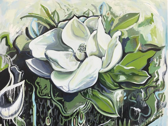 Amanda Boekhout plans to have her painting of a magnolia,