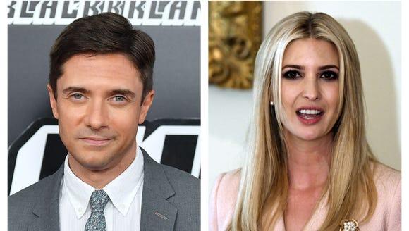 Topher Grace and Ivanka Trump