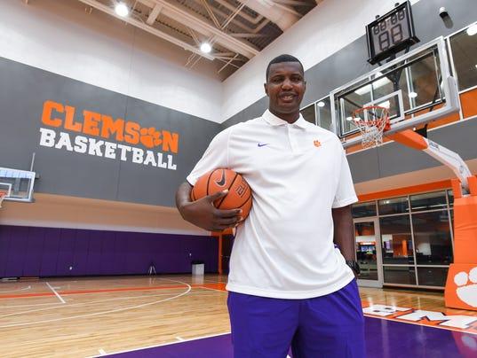 Clemson assistant men's Clemson basketball coach Antonio Reynolds Dean