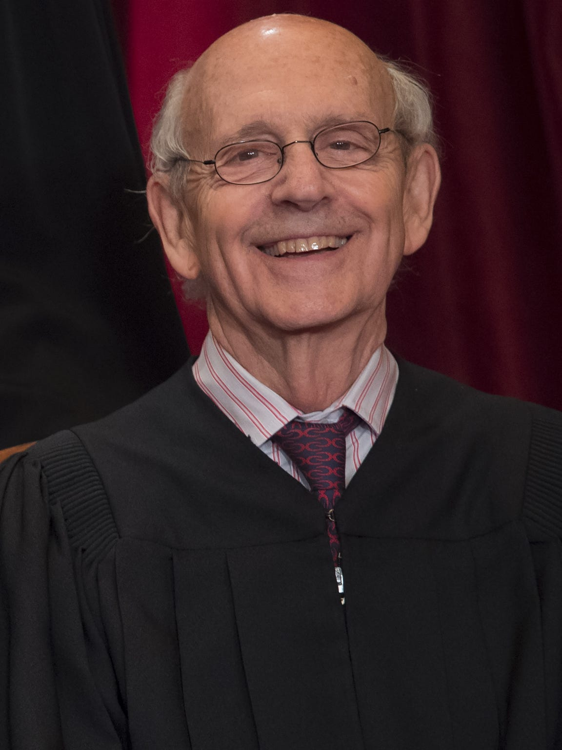 Supreme Court Justice Stephen Breyer sits for the court's