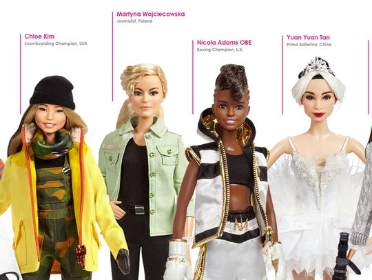 The 14 modern-day role models are part of Barbie's