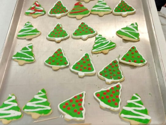 """The """"Cookie Walk"""" contains a variety of holiday snacks"""