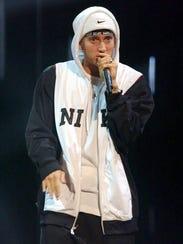 Eminem at the MTV Europe Music Awards in November 2002