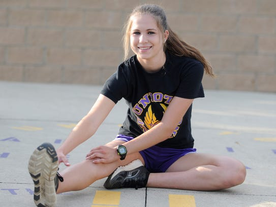 Unioto senior Alex Evans is aiming to end her high