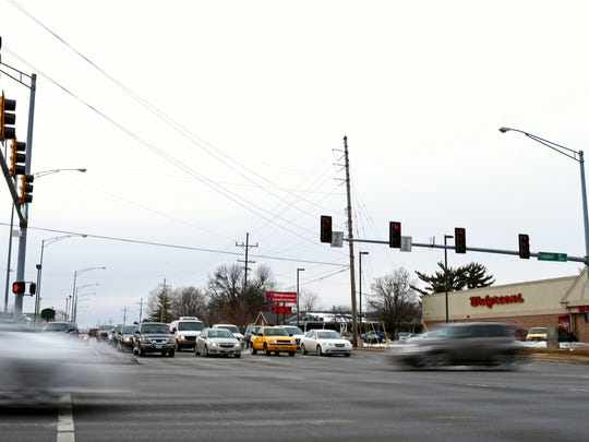 The intersection of Battlefield Road and Campbell Avenue,