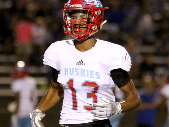 Hirschi's Javen Banks runs to his position from the