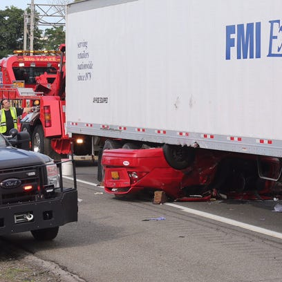 A serious crash on Friday involving a tractor-trailer