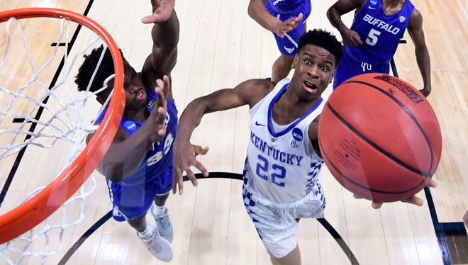 NBA combine The Suns are planning to interview Kentucky point guard Shai Gilgeous-Alexander at this week's NBA combine in Chicago.