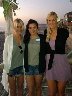 From left: Lauren Scruggs, Madysen Acey and Bethany Hamilton at the Beautifully Flawed retreat in Del Mar, California. The event is sponsored by the Friends of Bethany Hamilton Foundation.