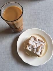 Coffee and crumb cake from The Peekskill Coffee House.