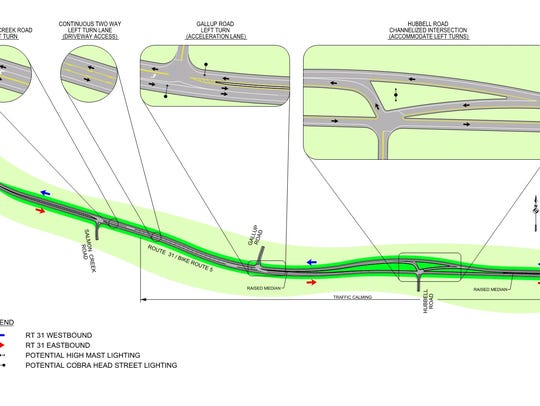 Pedestrian safety enhancements planned along Route