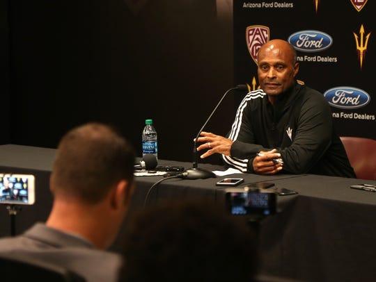 ASU Vice President of Athletics Ray Anderson speaks