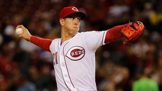 Cincinnati Reds relief pitcher Michael Lorenzen (21) delivers in the seventh inning.