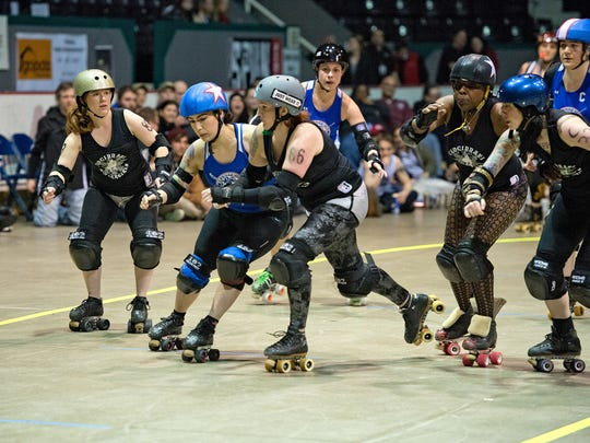 The Cincinnati Rollergirls and the Bradywine Belligerents bouted in March.