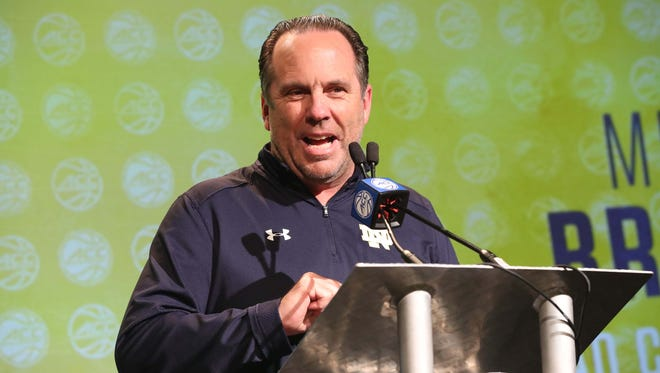 """We're all in it, man,"" Notre Dame coach Brey says of the college basketball scandal. ""We know it's going to get worse before it gets better."""